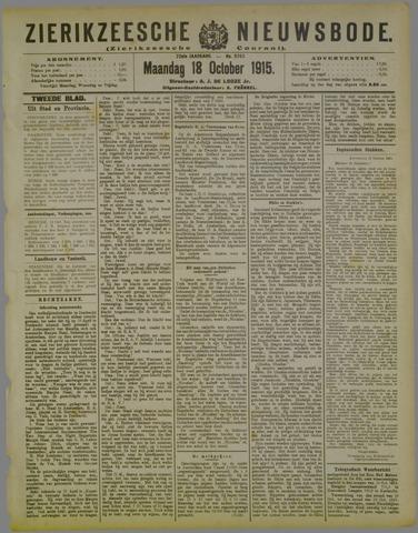 Zierikzeesche Nieuwsbode 1915-10-18