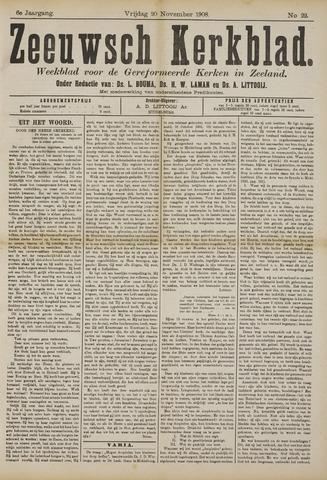 Zeeuwsche kerkbode, weekblad gewijd aan de belangen der gereformeerde kerken/ Zeeuwsch kerkblad 1908-11-20