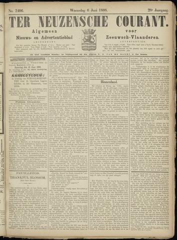 Ter Neuzensche Courant. Algemeen Nieuws- en Advertentieblad voor Zeeuwsch-Vlaanderen / Neuzensche Courant ... (idem) / (Algemeen) nieuws en advertentieblad voor Zeeuwsch-Vlaanderen 1888-06-06
