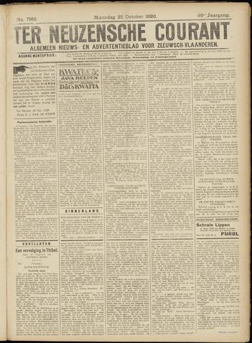 Ter Neuzensche Courant. Algemeen Nieuws- en Advertentieblad voor Zeeuwsch-Vlaanderen / Neuzensche Courant ... (idem) / (Algemeen) nieuws en advertentieblad voor Zeeuwsch-Vlaanderen 1926-10-25