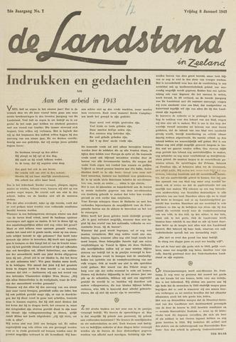De landstand in Zeeland, geïllustreerd weekblad. 1943-01-08