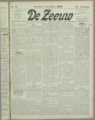 De Zeeuw. Christelijk-historisch nieuwsblad voor Zeeland 1920-11-02