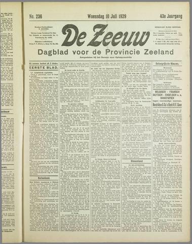 De Zeeuw. Christelijk-historisch nieuwsblad voor Zeeland 1929-07-10