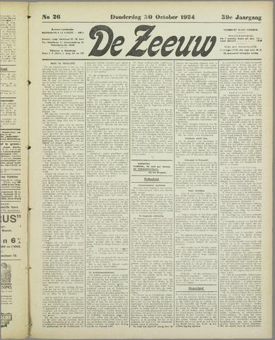 De Zeeuw. Christelijk-historisch nieuwsblad voor Zeeland 1924-10-30