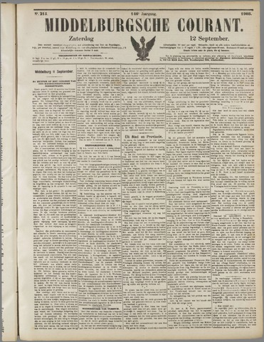 Middelburgsche Courant 1903-09-12