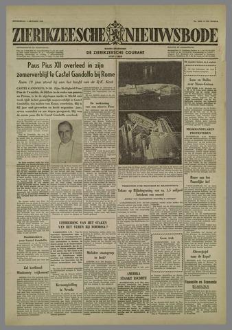 Zierikzeesche Nieuwsbode 1958-10-09