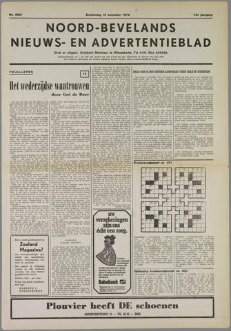 Noord-Bevelands Nieuws- en advertentieblad 1974-11-14