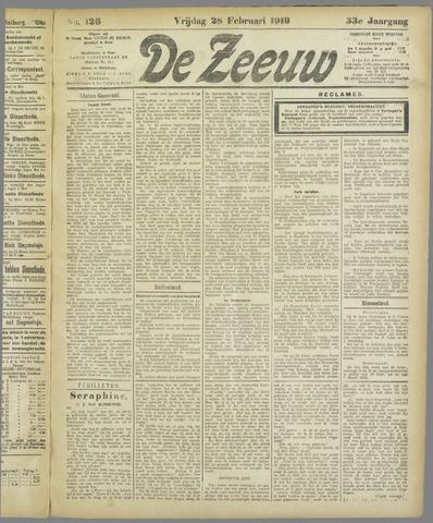 De Zeeuw. Christelijk-historisch nieuwsblad voor Zeeland 1919-02-28