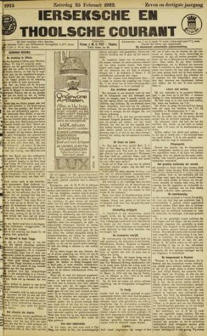 Ierseksche en Thoolsche Courant 1922-02-25