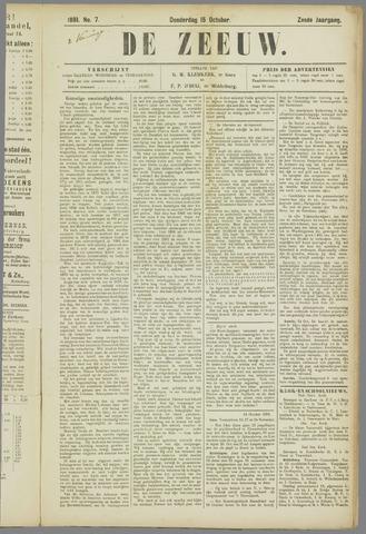 De Zeeuw. Christelijk-historisch nieuwsblad voor Zeeland 1891-10-15