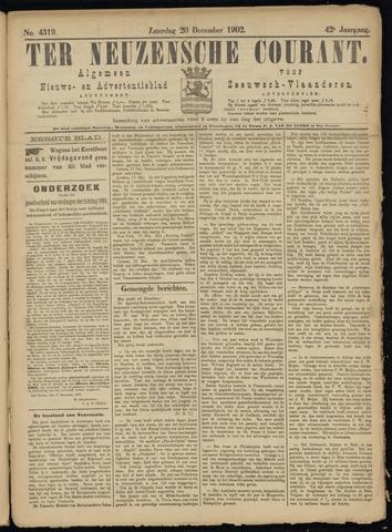 Ter Neuzensche Courant. Algemeen Nieuws- en Advertentieblad voor Zeeuwsch-Vlaanderen / Neuzensche Courant ... (idem) / (Algemeen) nieuws en advertentieblad voor Zeeuwsch-Vlaanderen 1902-12-20