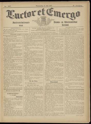 Luctor et Emergo. Antirevolutionair nieuws- en advertentieblad voor Zeeland / Zeeuwsch-Vlaanderen. Orgaan ter verspreiding van de christelijke beginselen in Zeeuwsch-Vlaanderen 1917-07-11