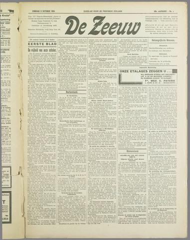 De Zeeuw. Christelijk-historisch nieuwsblad voor Zeeland 1934-10-02