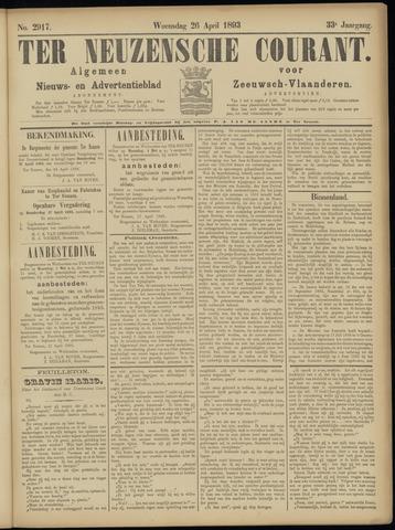 Ter Neuzensche Courant. Algemeen Nieuws- en Advertentieblad voor Zeeuwsch-Vlaanderen / Neuzensche Courant ... (idem) / (Algemeen) nieuws en advertentieblad voor Zeeuwsch-Vlaanderen 1893-04-26