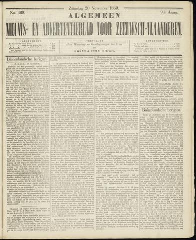 Ter Neuzensche Courant. Algemeen Nieuws- en Advertentieblad voor Zeeuwsch-Vlaanderen / Neuzensche Courant ... (idem) / (Algemeen) nieuws en advertentieblad voor Zeeuwsch-Vlaanderen 1869-11-20