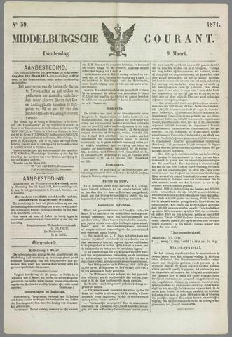 Middelburgsche Courant 1871-03-09