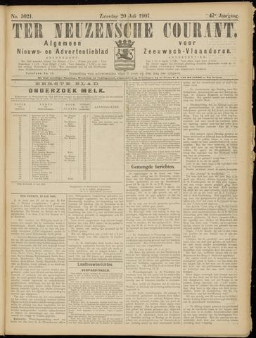 Ter Neuzensche Courant. Algemeen Nieuws- en Advertentieblad voor Zeeuwsch-Vlaanderen / Neuzensche Courant ... (idem) / (Algemeen) nieuws en advertentieblad voor Zeeuwsch-Vlaanderen 1907-07-20