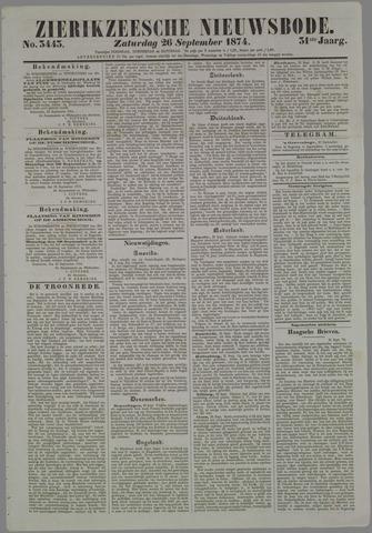 Zierikzeesche Nieuwsbode 1874-09-26