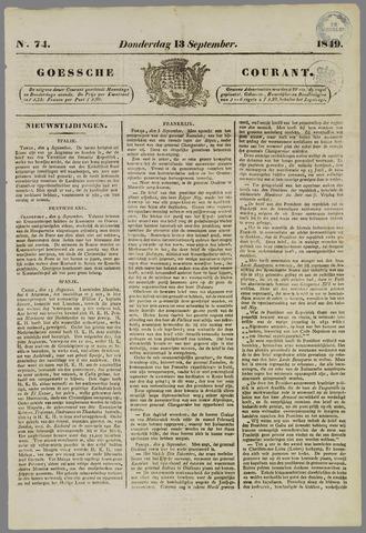 Goessche Courant 1849-09-13
