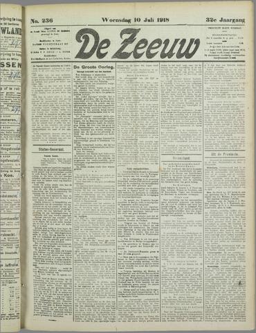De Zeeuw. Christelijk-historisch nieuwsblad voor Zeeland 1918-07-10