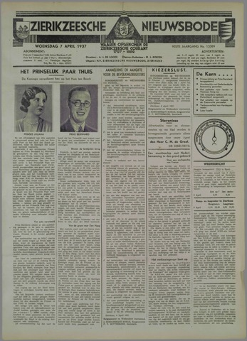 Zierikzeesche Nieuwsbode 1937-04-07