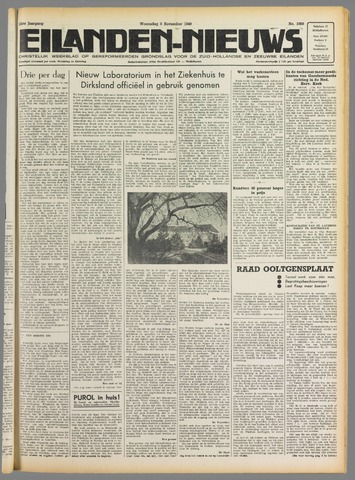 Eilanden-nieuws. Christelijk streekblad op gereformeerde grondslag 1949-11-09