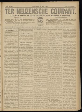 Ter Neuzensche Courant. Algemeen Nieuws- en Advertentieblad voor Zeeuwsch-Vlaanderen / Neuzensche Courant ... (idem) / (Algemeen) nieuws en advertentieblad voor Zeeuwsch-Vlaanderen 1914-07-18