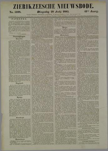 Zierikzeesche Nieuwsbode 1885-07-28