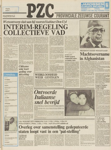 Provinciale Zeeuwse Courant 1978-04-28