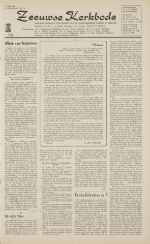 Zeeuwsche kerkbode, weekblad gewijd aan de belangen der gereformeerde kerken/ Zeeuwsch kerkblad 1962-05-18