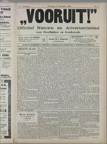 """""""Vooruit!""""Officieel Nieuws- en Advertentieblad voor Overflakkee en Goedereede 1910-12-14"""