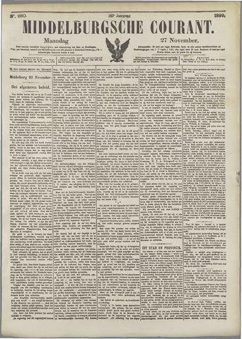 Middelburgsche Courant 1899-11-27