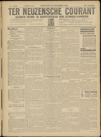 Ter Neuzensche Courant. Algemeen Nieuws- en Advertentieblad voor Zeeuwsch-Vlaanderen / Neuzensche Courant ... (idem) / (Algemeen) nieuws en advertentieblad voor Zeeuwsch-Vlaanderen 1936-12-23