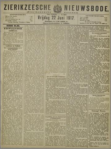 Zierikzeesche Nieuwsbode 1917-06-22