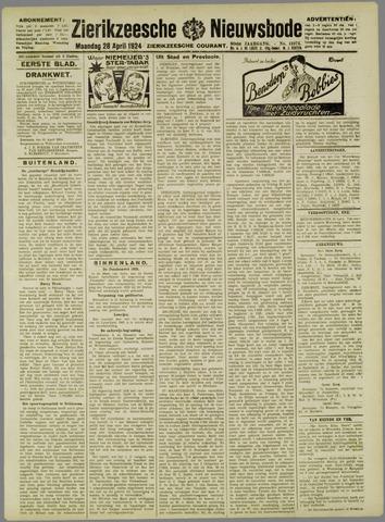 Zierikzeesche Nieuwsbode 1924-04-28