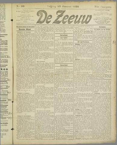 De Zeeuw. Christelijk-historisch nieuwsblad voor Zeeland 1920-01-23