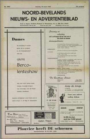Noord-Bevelands Nieuws- en advertentieblad 1962-03-10