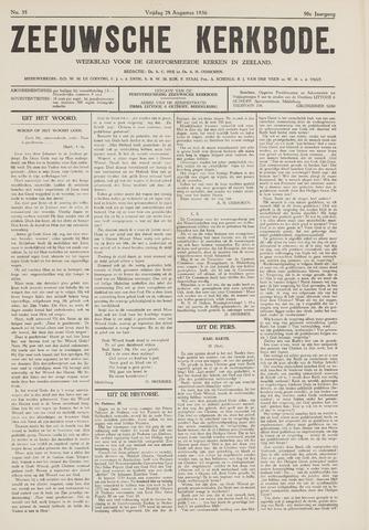 Zeeuwsche kerkbode, weekblad gewijd aan de belangen der gereformeerde kerken/ Zeeuwsch kerkblad 1936-08-28