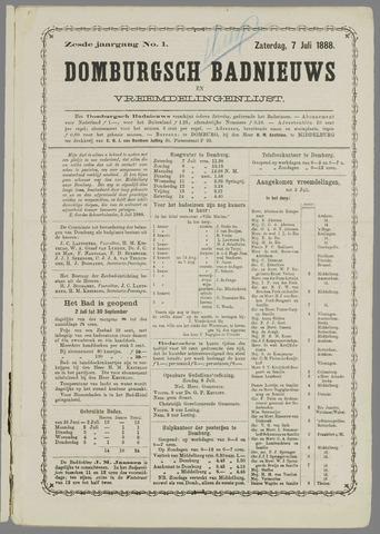 Domburgsch Badnieuws 1888