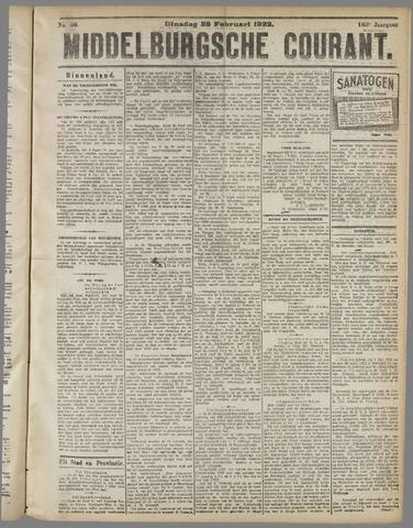 Middelburgsche Courant 1922-02-28