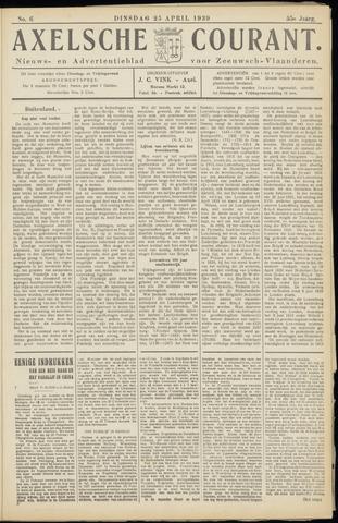 Axelsche Courant 1939-04-25