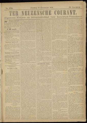Ter Neuzensche Courant. Algemeen Nieuws- en Advertentieblad voor Zeeuwsch-Vlaanderen / Neuzensche Courant ... (idem) / (Algemeen) nieuws en advertentieblad voor Zeeuwsch-Vlaanderen 1918-12-31