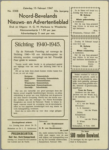Noord-Bevelands Nieuws- en advertentieblad 1947-02-15
