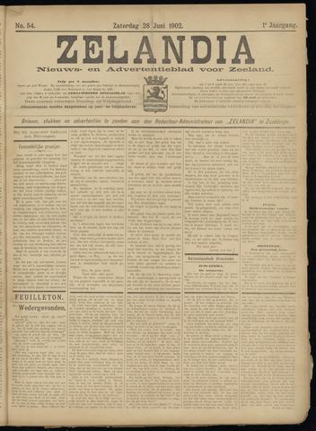 Zelandia. Nieuws-en advertentieblad voor Zeeland | edities: Het Land van Hulst en De Vier Ambachten 1902-06-28