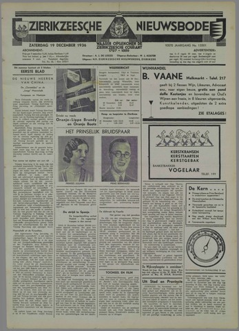 Zierikzeesche Nieuwsbode 1936-12-19