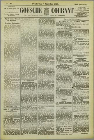 Goessche Courant 1919-08-07