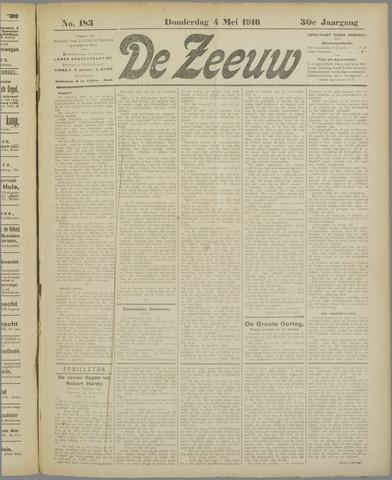 De Zeeuw. Christelijk-historisch nieuwsblad voor Zeeland 1916-05-04