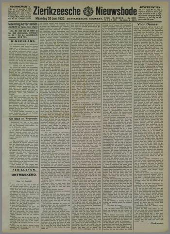 Zierikzeesche Nieuwsbode 1930-06-30