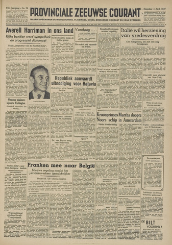 Provinciale Zeeuwse Courant 1949-04-04