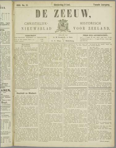 De Zeeuw. Christelijk-historisch nieuwsblad voor Zeeland 1888-06-21